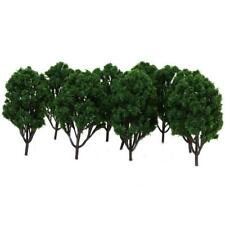 10pcs Dark Green Trees Model Train Railroad Diorama Scenery HO TT Landscape