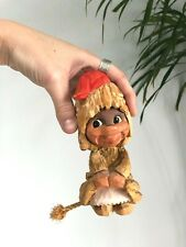 Vintage HENNING Hand Carved GIRL TROLL Rope Tail NORWAY Figurine GNOME Folk Art