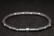 Armband Hämatin matt (Hämatit rekonstruiert) & 925 Silber I elastisch, Bracelet