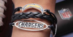 Los Angeles CHARGERS San Diego Bracelet Leather Free Ship NWT Charm Limited NEW