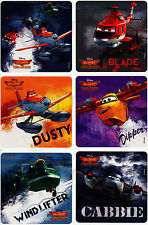 Disney PLANES FIRE & RESCUE STICKERS x 6 - Fire and Rescue Movie - Dusty/Blade