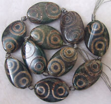 """20x30mm Natural Agate Wave Oval Loose Beads 14"""""""