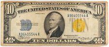 "1934-A $10 TEN DOLLARS ""NORTH AFRICA"" SILVER CERTIFICATE"