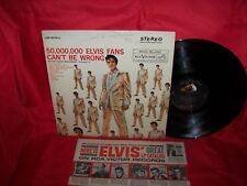 ELVIS PRESLEY 50,000,000 Elvis fans can't be wrong LP record ORIG staggered 1963