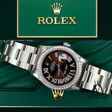Rolex Datejust Stainless Steel 36mm Brown Roman Numeral Dial on Oyster Bracelet
