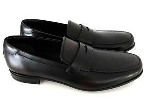 PRADA Men's Shoes Loafers Slippers Calf Dark Brown Eu: 44,5 (10,5) New /