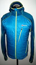BERGHAUS Pertex Microlight JACKET COAT Hooded XXL Blue THERMAL Waterproof Jumper