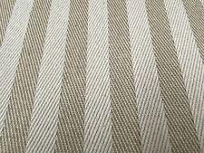 Herringbone Stripe Beige Ivory Linen 150cm wide Curtain/Upholstery Fabric