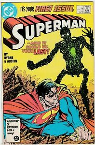 Superman # 1 John Byrne DC Comics Book January 1987 NM