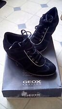 Geox wedge black suede hightop sneakers in perfect condition