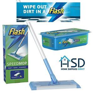 Flash Speedmop Starter Kit Refills Replacement Wipes Speed Mop Floor Pads Pack