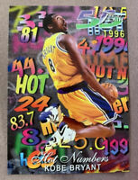 1996-97 Flair HOT NUMBERS Kobe Bryant RC #8 Hot Card LA Lakers Rookie Card!