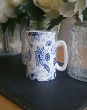 Bone China Half Pint Jug Blue Persian Floral Pattern Hand Decorated Wales Gift