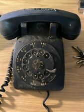 Vintage Black Rotary Desk Phone Bell System - Western Electric Telephone.
