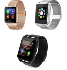 Metal Smart Bluetooth Watch GSM for Android IOS Sleep, Pedometer & Sedentary lot