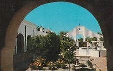 "*Arizona Postcard-""Courtyard & Patio"" /Mission San Xavier Del Bac/ *Tucson-"
