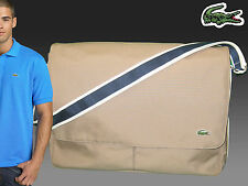 LACOSTE MESSENGER Shoulder Bag XL Casual 23 Expandable Dark Beige