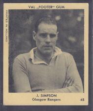 Klene / Val Gum - Footballers 1936 - # 48 J Simpson - Rangers