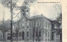 Salamanca New York Junior High School Street View Antique Postcard K48520