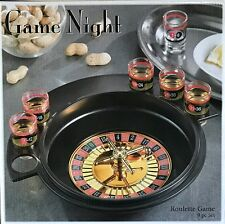 NEW GAME NIGHT ROULETTE & DRINKING GAME 9 Pc SET