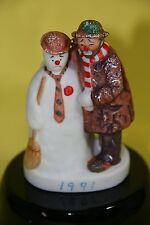 "Emmett Kelly Circus Collection ""Emmett & The Snowman"" Figurine Dave Grossman Nib"