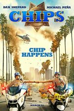 Chips Movie Poster (24x36) - Dax Shepard, Michael Pena, Jessica McNamee