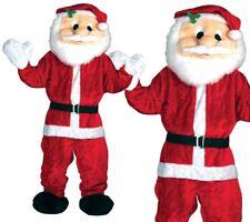 Adulte Géant Big Tête Père Noël Déguisement Mascotte Tenue de Noël Neuf
