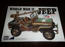 MPC Retro Deluxe WW II U.S. Army Military Jeep W/ 105 Rifle  model kit 1/25