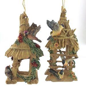 Goldfinch Redpoll Birdhouse Thomas Kinkade Bradford Exchange Ornament S728
