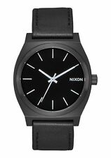*BRAND NEW* NIXON WATCH THE TIME TELLER ALL BLACK / WHITE A045756 NEW IN BOX!