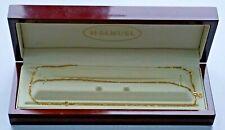 H.SAMUEL 9KT Italy Yellow Gold Dainty Necklace & Bracelet Set