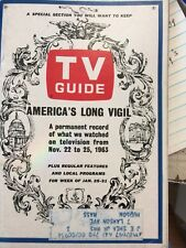 TV GUIDE. JAN 1864. A RECORD OF THE KENNEDY ASSASSINATION
