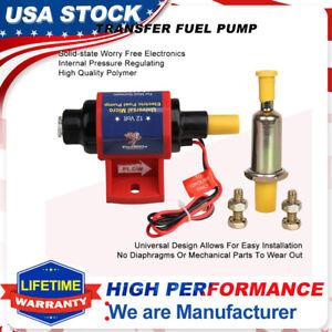 Mighty Universal Electric Fuel Pump 12V 4-7 PSI 35 GPH Gas Gasoline w/Carburetor