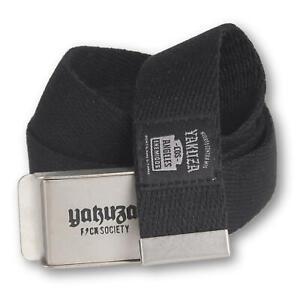 "YAKUZA - Gürtel GB 15308 ""Enemigos"" black (schwarz) Unisex Stoffgürtel"