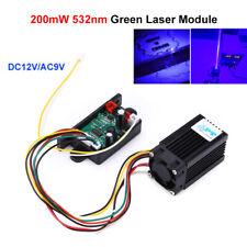 Fat Beam Steady 532nm 200mW Green Laser Module DIY Kits DC 12V Fr Stage Lighting