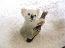 Vintage 80s Koala Bear Felted Pin Brooch