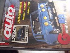 $$q Revue auto Passion N°117 Porsche 928 GT 1989  Tyrrell 6 roues  R8 Gordini