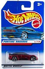 1999 HOT WHEELS first editions #675 = PONTIAC RAGEOUS = BURGUNDY  3sp 0910