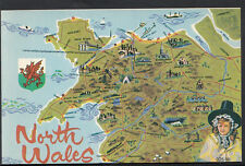 Maps Postcard - Map of The North of Wales  RS1845