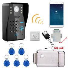 Wireless WIFI Password Video Door Phone Doorbell Intercom+Electronic Door Lock