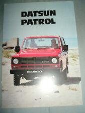 Datsun Patrol range brochure Jan 1982