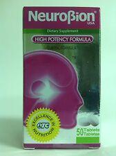 1 BOTTLE OF NEUROBION HIGH POTENCY FORMULA 50 tablets / NEUROBION ALTA POTENCIA