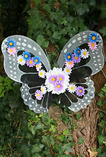 BLACK WINGS FLORAL WEDDING FLOWER BUTTERFLY FAIRY FAIRIES FESTIVAL  GOTHIC