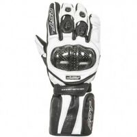 RST Delta 2 2541 Carbon Fibre Knuckle Motorcycle Motorbike Gloves - White