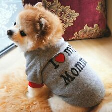 I Love Mummy/Daddy Small Dog Jumper Pet Puppy Clothes Sweater Yorkie Pomeranian