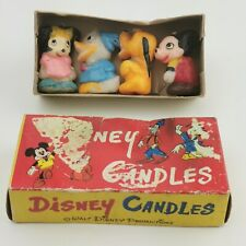 More details for ~ rare ~ vintage ~ walt disney productions ~ figure candles ~ mickey minnie ~