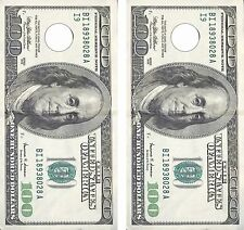 $100 BILL MONEY .Cornhole Board Game Decal Wraps USA High Quality Image bag
