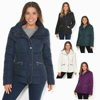 Womens Ladies Quilted Jacket Padded Puffer Warm Neck Winter Coat Parka Outwear