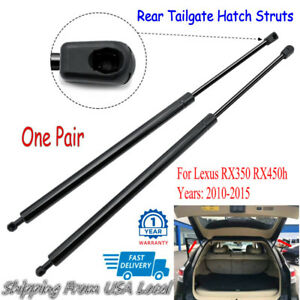 Pair For Lexus RX350 RX450h 10-15 Rear Hatch Tailgate Lift Supports Shock Strut