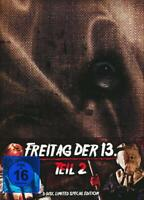 Mediabook FREITAG DER 13. Teil  2 UNCUT Limited Edition 3 Disc BLU-RAY DVD bOX
